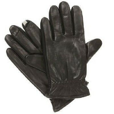 $125 ISOTONER Men Fleece Gloves Brown stretch TOUCHSCREEN DRIVING WINTER Size M