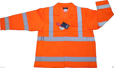 20 x Hi-Vis Fluorescent Orange Warning Jacket Class 2 High Visibility Wholesale