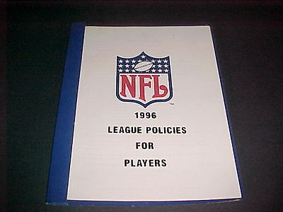 Nfl 1996 League Policies For Players Booklet