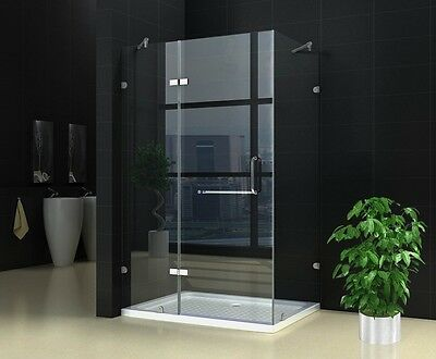 New Frameless shower screen NO base 8mm Glass 900X1200X1900 Very Popular