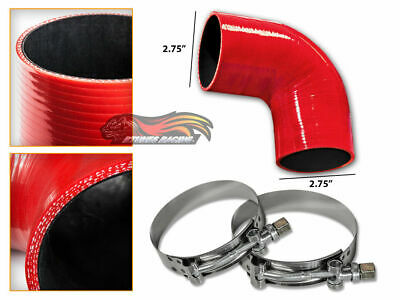 """BLUE Elbow 3.5/"""" 89mm 4-ply Silicone Coupler Hose Turbo Intake Intercooler Chev1"""