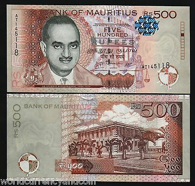 Mauritius 500 Rupees New 2010 Bisoondoyal University Unc Africa Currency Note