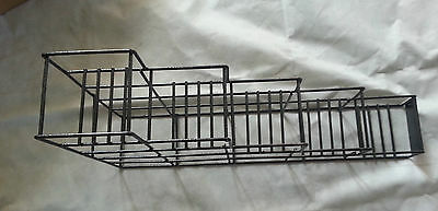 5 bottle rack fifths/syrup, front brand plate, powder coated steel, 5002482