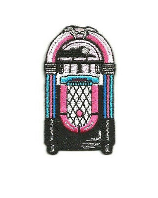 50/'s Diner Embroidered Iron On Applique Patch Ice Cream Soda Milk Shake