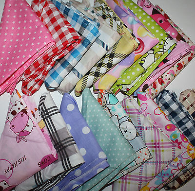 Baby / Kids Bandana / Head Scarf / Bib / Neckerchief  Boys & Girls 22 designs