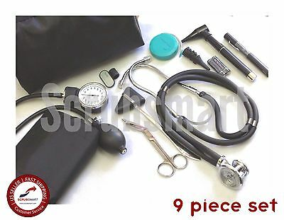 Beginner Nurse Student starter Kit - Stethoscope BP Otoscope Scissor +more NK-01