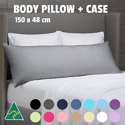 Aus Made Body Pillow Long Full Maternity Pregnancy Support Cotton Cover