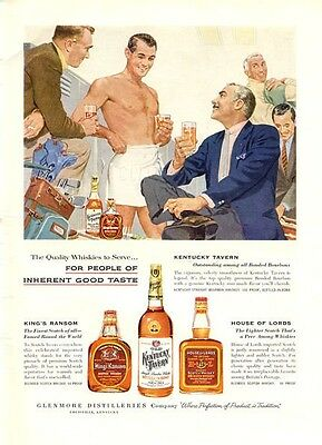 1956 Kentucky Tavern Ransom House of Lords Scotch Vintage Bottles PRINT AD