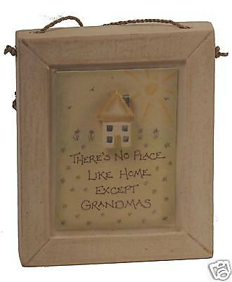 East of India THERES NO PLACE LIKE GRANDMAS Plaque Gift Idea for Grandma