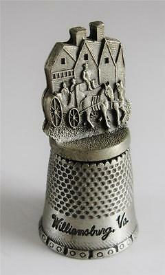 THIMBLE - Pewter - Made by Fort - Williamsburg VA