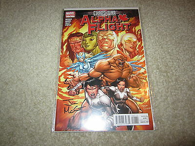 Chaos War: Alpha Flight #1 Signed By Jim Mccann With Coa !!!!! See My Others!!!