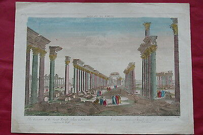 1700's PALMYRA  SYRIA Temple of the Sun - hand colored View
