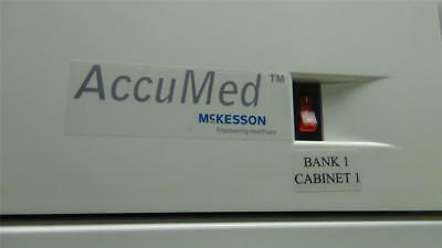 McKesson AccuMed Dispensing Cabinet - One Bank of 18 Dispensors - Excellent !!