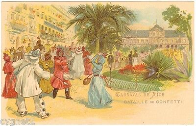 Postcard French Battle Of Confetti Carnaval In Nice