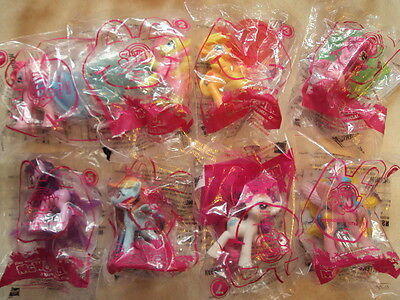 MCDONALDS 2011 MY LITTLE PONY SET 1-8 HAPPY MEAL TOYS FLUTTERSHY+ HARD TO FIND