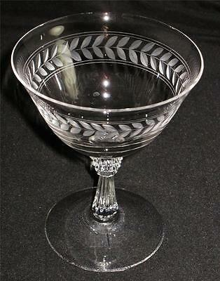 """Fostoria LAUREL Champagne or Low Sherbet Glass, 4 5/8"""" Tall"""