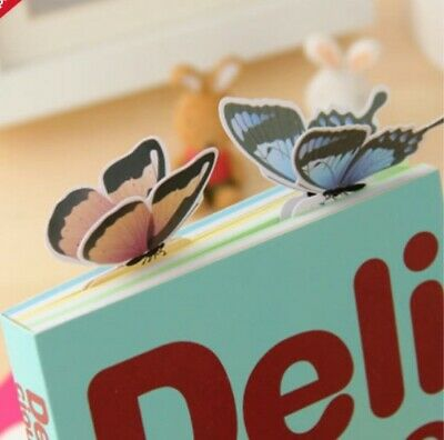 4  x Cute 3D butterfly bookmarks 7 lovely designs unique UK seller Fun Kids