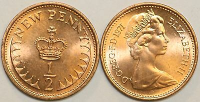 1971 to 1983 Elizabeth II Bronze Decimal Halfpenny Your Choice of Date