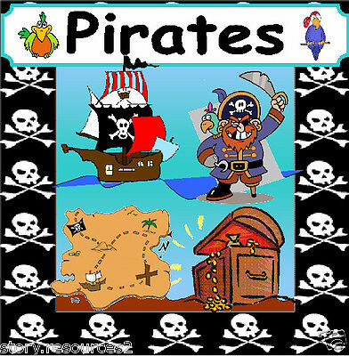 PIRATES topic theme story Primary teaching resources sack Ks1 EYFS cd Resource
