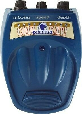 Danelectro Cool Cat Series Chorus Guitar Effects Pedal *NEW* 3D shimmer & swirl