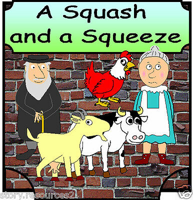 A SQUASH AND A SQUEEZE story teaching resources sack CD KS1 EYFS CHILDMINDER