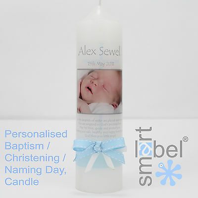 Personalised Christening, Baptism, Naming Day Candle 5