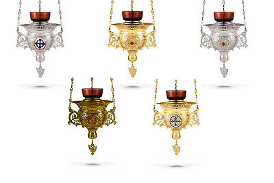 Orthodox Hanging Vigil Lamp + FREE Wicks Orthodoxe Ikonenampel Ewiges Licht