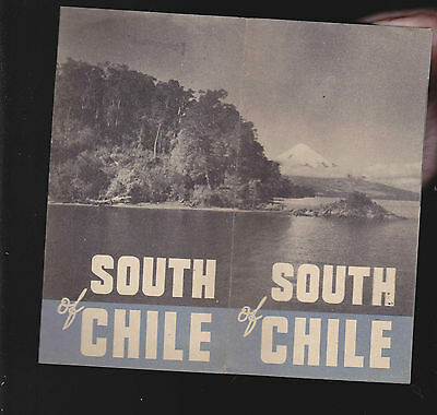 South of Chile vintage travel brochure (1930s?)