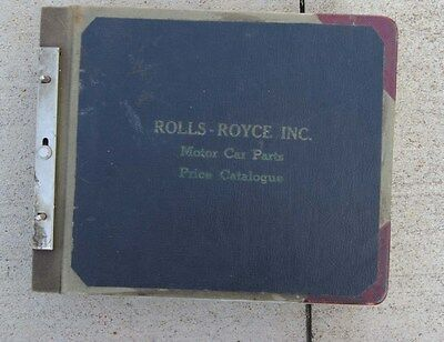 Early 1960's Rolls Royce MotorCar Parts Price Catalog 663 pages