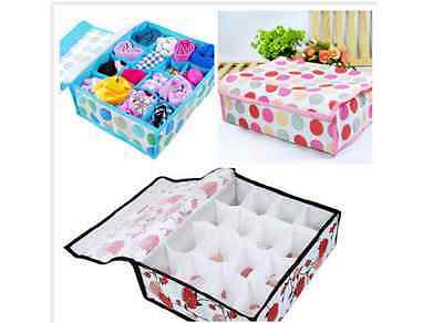 16 Cell with lids Ties Socks Drawer cupboard  Divider Storage Organizer