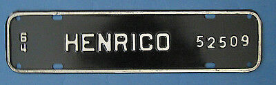 1964 Henrico County license plate from Virginia