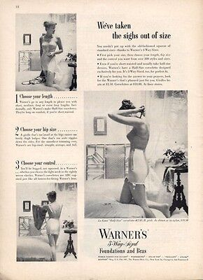 1949 Warner Vintage Merry Widow Girdle Corselettes PRINT AD