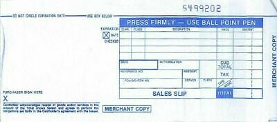 100 LONG 2 PART Credit Card Manual Imprinter Sales Slip Charge Receipts Draft