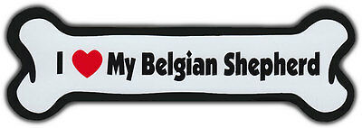 Dog Bone Magnet: I LOVE MY BELGIAN SHEPHERD | Dogs Doggy Puppy | SHEEPDOG SHEEP