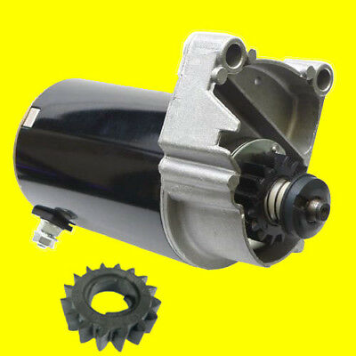 New Starter Motor for Briggs V Twin Cylinder HD 14 16 18 HP w/ FREE GEAR 399928