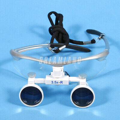 Optical Dental Surgical Binocular Magnifier Loupes/Glasses 3.5X 420mm 4 colors