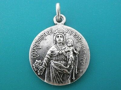 Silver Our Lady of Life Rosary Mother Mary Jesus / St Madeleine Medal Catholic