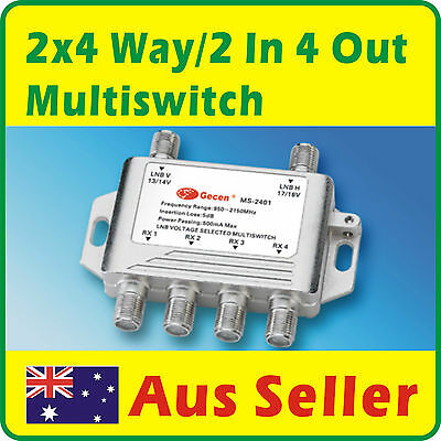 2x4 Way Multiswitch Satellite Multi Switch 2 In 4 Out