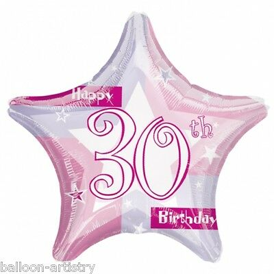 """19"""" Pink 30th Birthday Prismatic Foil Balloon party"""
