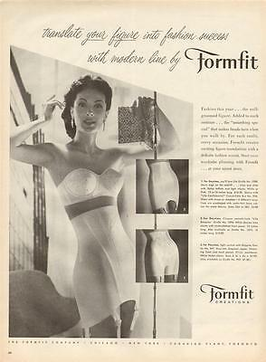 1957 FormFit PRINT AD Creations Bra & Girdle Pretty Woman