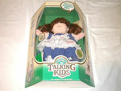 NEW Cabbage Patch Kids TALKING KIDS Rare Coleco LARGE Doll 1987 Speaking Girl