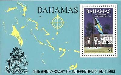 Bahamas Stamp, 1983 WWS8307 10th Anniversary of Independence, Flag Nation, Place