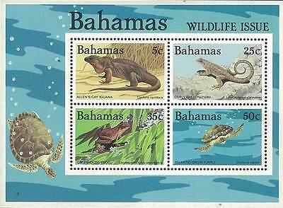 Bahamas Stamp, 1984 WWS8403 Wildlife, Animal, Iguana, Frog, Lizard, Turtle