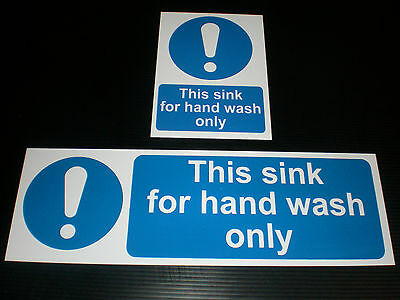 This Sink For Hand Wash Only Sign Or Sticker Choice Of Sizes Catering Kitchen