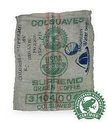 1kg Bag Colombian Supremo Decaf Organic Rainforest Alliance Fresh Roasted Coffee