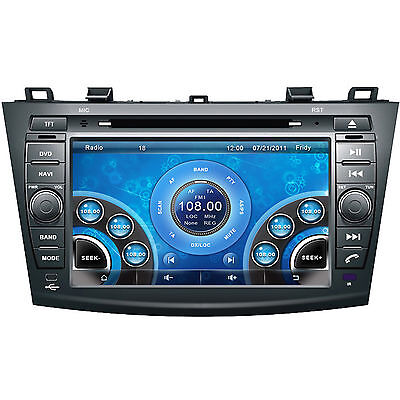 """8"""" Car Stereo DVD Player For MAZDA 3 2010-2012 With GPS Navigation Radio RDS Map"""