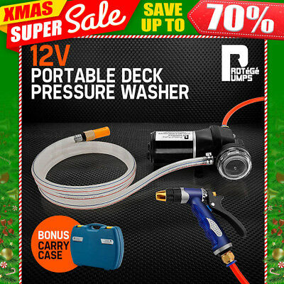 PROTEGE 12V Washdown Pump Kit 100PSI Deck Wash Caravan Boat High Pressure Washer