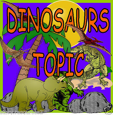 DINOSAURS topic theme Primary teaching resources EYFS  SEN childminder resource