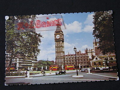 Big Ben and Parliament Square, London, 1959, RP Postcard
