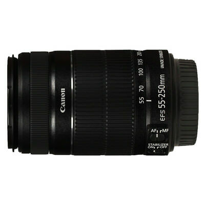 NEW Canon EF-S 55-250mm f/4-5.6 IS II Lens For EOS 1 Year Warranty